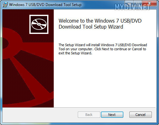 Установка Windows USB/DVD Download Tool